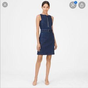 Club Monoco Blue Lizel Denim Mini Dress SZ 0